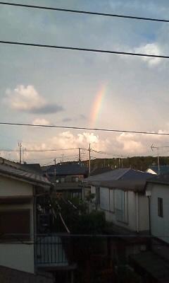 雨上がりの虹は